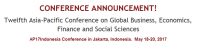 Twelfth Asia-Pacific Conference on Global Business, Economics, Finance and Social Sciences