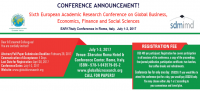 Sixth European Academic Research Conference on Global Business, Economics, Finance and Social Sciences