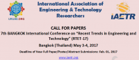 """8th International Conference on """"Recent Trends in Engineering and Technology"""" (RTET-17)"""