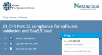 Compliance for software validation in 21 CFR Part 11 - 2017