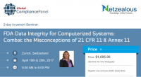 FDA Data Integrity for Computerized Systems 2017  | 21 CFR 11