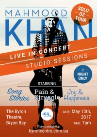 Mahmood Khan Live Acoustic studio sessions Oz Tour 2017