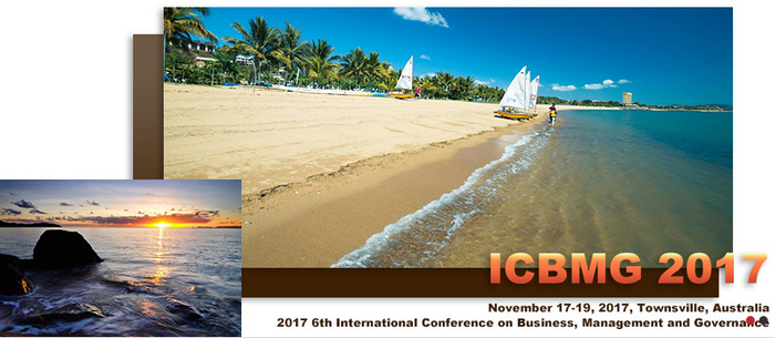 2017 6th International Conference on Business, Management and Governance (ICBMG 2017), Townsville, Australia