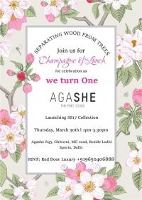 Agashe-The Multi Designer Pret Store invites you to their 1st Anniversary celebration