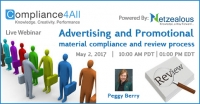 Review process on Advertising & Promotional material compliance - 2017