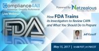 How FDA Trains its Investigators to Review CAPA