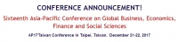 Sixteenth Asia-Pacific Conference on Global Business, Economics, Finance and Social Sciences