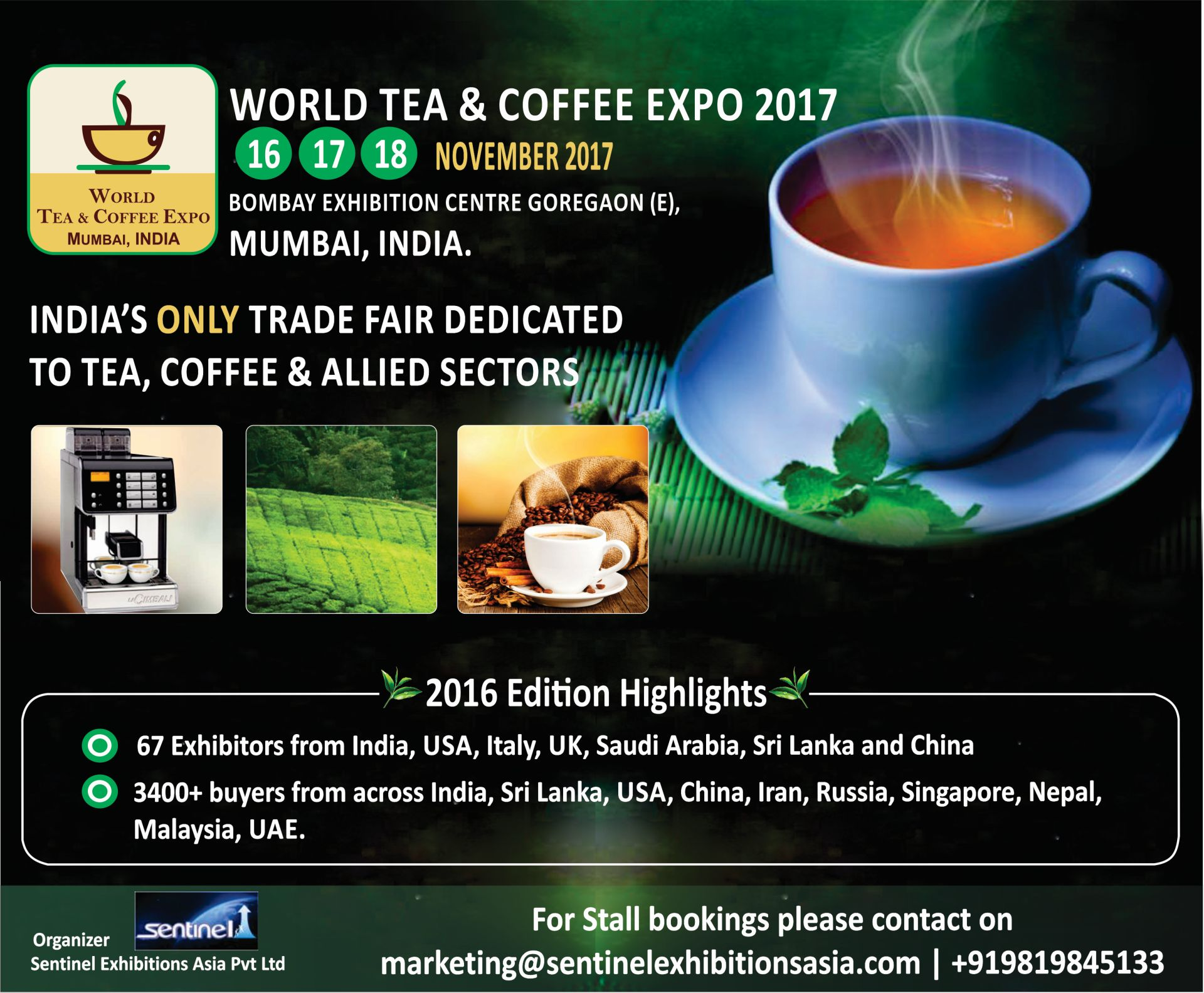 5th World Tea & Coffee Expo Mumbai India, Mumbai, Maharashtra, India