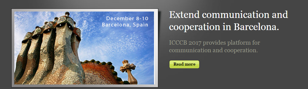 2017 International Conference on Computational Chemistry and Biology (ICCCB 2017), Barcelona, Spain