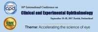 16th International Conference on Clinical and Experimental Ophthalmology - CME+CPD