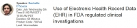 se of Electronic Health Record Data (EHR) in FDA regulated clinical investigations - By Compliance Global Inc