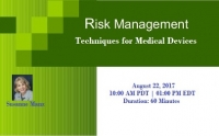 Medical Devices for Risk Management Techniques 2017
