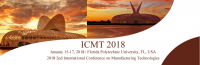 2018 2nd International Conference on Manufacturing Technologies - ICMT 2018