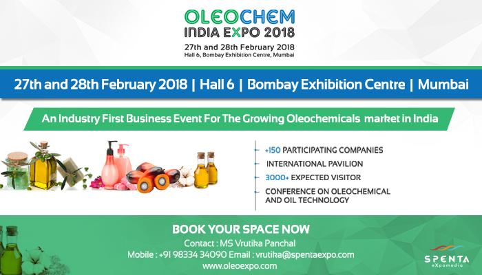 OleoChem India Expo 2018, Mumbai, Maharashtra, India