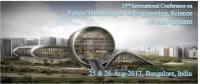 23rd International Conference on Future Technologies in Engineering, Science & Management