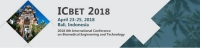 2018 8th International Conference on Biomedical Engineering and Technology (ICBET 2018)--Ei Compendex and Scopus