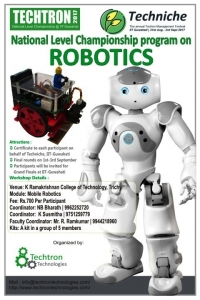 Two Days National Level Workshop on Mobile Robotics