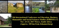 9th International Conference on Education, Business, Humanities and Social Sciences Studies (EBHSSS-17)