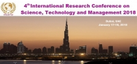 4th International Research Conference on Science, Technology and Management 2018 (IRCSTM 2018)