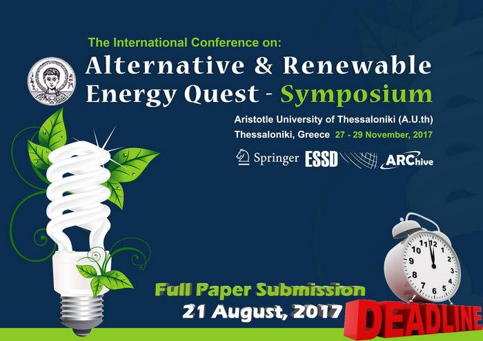 Alternative & Renewable Energy Quest – Symposium, Thessaloniki, Thessaly, Greece