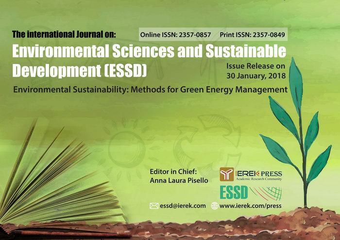 The International Journal of Environmental Science & Sustainable Development (ESSD), Alexandria, Egypt