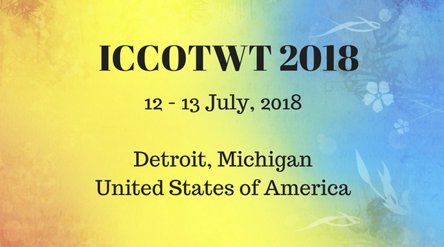 Third International Conference on Cloud of Things and Wearable Technologies 2018, Detroit, Michigan, United States