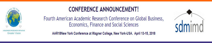 Fourth American Academic Research Conference on Global Business, Economics, Finance and Social Sciences, New York, United States