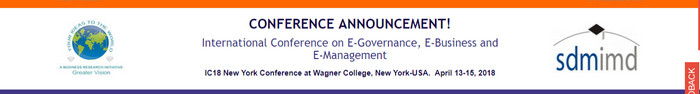 International Conference on E-Governance, E-Business and E-Management, New York, United States