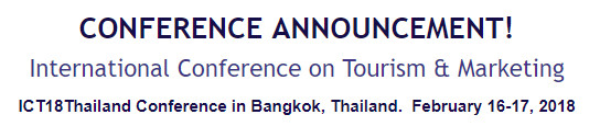 International Conference on Tourism & Marketing, Thailand, Bangkok, Thailand