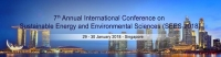 7th Annual International Conference on Sustainable Energy and Environmental Sciences – SEES 2018
