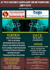 Hi Tech Advance Workshop on Networking  (NET-2017)