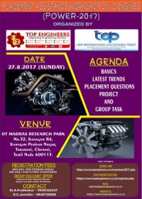 Placement Assistance Workshop on IC Engines Power (POWER-2017)