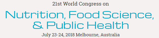 21st World Congress on Nutrition, Food Science,  & Public Health, Melbourne, Victoria, Australia
