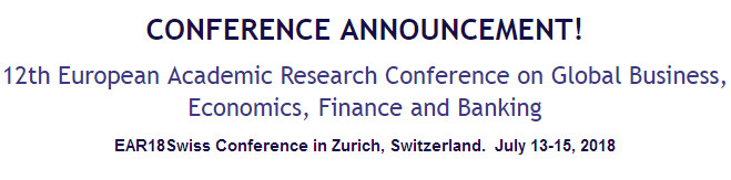 12th European Academic Research Conference on Global Business,  Economics, Finance and Banking, Zürich, Switzerland