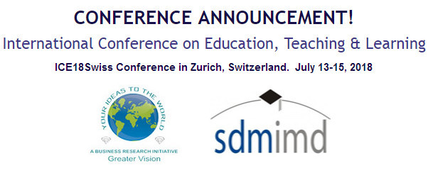 ICE18Swiss International Conference on Education, Teaching & Learning, Zürich, Switzerland