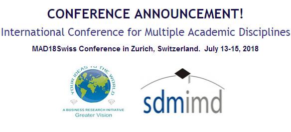 MAD18Swiss International Conference for Multiple Academic Disciplines, Zürich, Switzerland