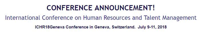 International Conference on Human Resources and Talent Management, Geneva, Switzerland