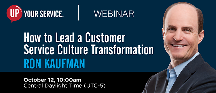How to Lead a Service Culture Transformation - 12 Oct, Cook, Illinois, United States
