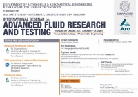 International Seminar on Advanced Fluid Research and Testing