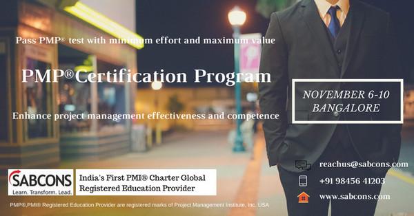 PMP Certification Training Program - Training or Development Class