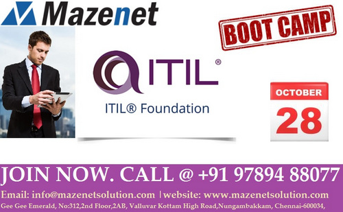 ITIL® FOUNDATION TRAINING, Chennai, Tamil Nadu, India