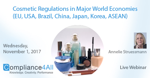 New Cosmetic Product Regulation in World Economies 2017, Fremont, California, United States