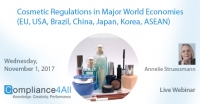New Cosmetic Product Regulation in World Economies 2017
