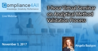 Virtual Seminar on Analytical Method Validation Process