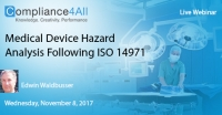 Medical Device Hazard Analysis Following ISO 14971 - 2017