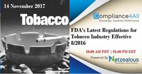 Latest Regulations for Tobacco Industry Effective 8-2016, Fremont, California, United States