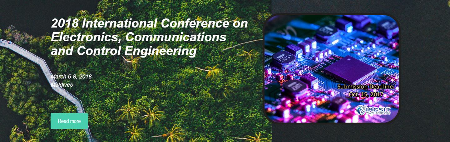 2018 International Conference on Electronics, Communications and Control Engineering (ICECC 2018), Avid College, Maldives