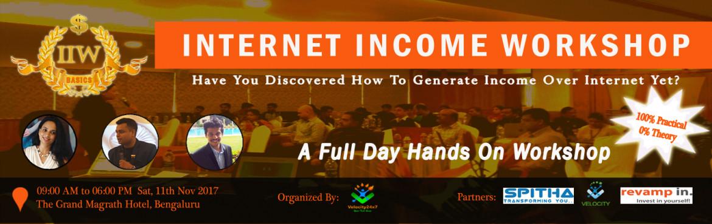 Internet Income Workshop, Bangalore, Karnataka, India