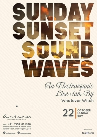 Sunday Sunset Sound Waves