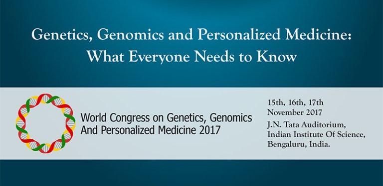World Congress on Genomics, Genomics  and Personalized Medicine - 2017, Bangalore, Karnataka, India